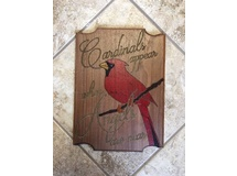 Cardinals Appear... Routered Edge-painted