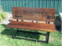The Blockers-Walnut Bench