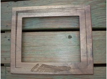 Picture Frame w/Feather-Walnut