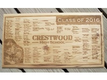 Crestwood High School Signiture Plaque
