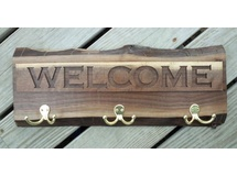 Welcome Sign with coat hanger
